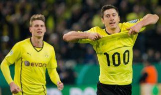 Lewandowski mit 100. Pflichtspieltor für Dortmund (Foto)