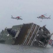 Bericht: Etwa 290 Vermisste nach Fährunglück vor Südkorea (Foto)