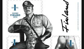 Eine neue Briefmarkenreihe aus Finnland ehrt den schwulen Künstler Tom of Finland. (Foto)