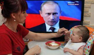 Putin fordert Verhandlungslösung für Ukraine-Konflikt (Foto)
