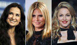 Nach Demi Moore (links) ist auch Heidi Klum (Mitte) auf den Geschmack von Vito Schnabel gekommen. Madonna kennt sich mit jüngerem Gemüse ebenfalls aus. (Foto)
