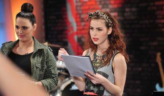 «The Voice Kids»-Coach Lena Meyer-Landrut hat mit ihren Nachwuchstalenten fleißig geprobt. (Foto)