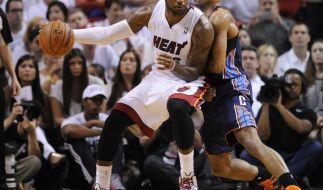 Titelverteidiger Miami startet mit Sieg in NBA-Playoffs (Foto)