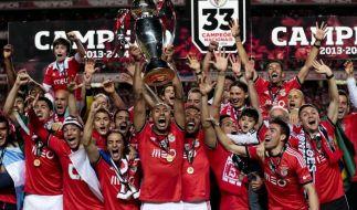 Portugal sieht rot: Benfica zum 33. Mal Landesmeister (Foto)