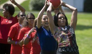 Fitness im Weißen Haus:Schöne gesunde Obamawelt (Foto)