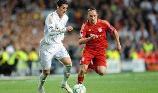 Weltfußballer gegen Europas Fußballer des Jahres: Cristiano Ronaldo gegen Franck Ribéry. (Foto)