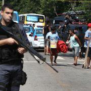 Krawalle in Rios Copacabana-Viertel dämpfen WM-Vorfreude (Foto)