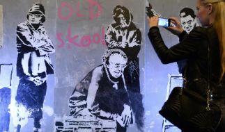 Kollektiv versteigert Banksy-Graffiti (Foto)