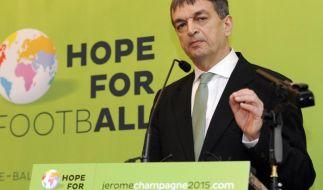 Champagne glaubt nicht an Chance gegen FIFA-Boss Blatter (Foto)