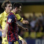 Messi erhält Barca die Titelchance: 3:2 in Villarreal (Foto)