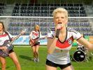 Dschungelkönigin Melanie Müller erntet mit ihrem WM-Song «Auf geht's Deutschland schießt ein Tor» nicht wirklich Lob. (Foto)
