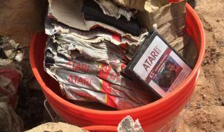 30 Jahre alte ausgegrabene «E.T»-Spiele von Atari auf einer Müllhalde bei Alamogordo im US-Staat New Mexico. (Foto)