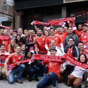 Auch in NY freuen sich die Bayern-Fans auf den Kracher gegen Real.
