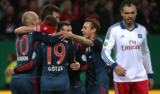 Im Hinspiel bezwang der FC Bayern den HSV mit 3:1. (Foto)