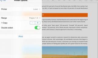 Microsoft reicht Druckfunktion für Office auf dem iPad nach (Foto)