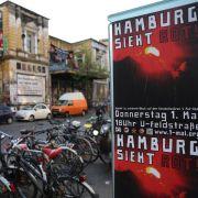 Die Polizei hofft im Hamburger Schanzenviertel auf einen ruhigen 1. Mai.