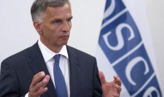 Steinmeier stimmt Bemühungen um OSZE-Geiseln ab (Foto)