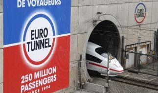 Drapeau tricolore gegen Union Jack: Eurotunnel wird 20 Jahre alt (Foto)