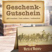 Gewinnen Sie mit news.de einen von zwei Gutscheinen für den Westershop World of Western im Wert von je 50 Euro.