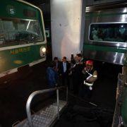Fast 200 Verletzte bei U-Bahn-Unglück in Seoul (Foto)