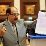 Al-Maliki liegt bei Wahl im Irak vorne (Foto)