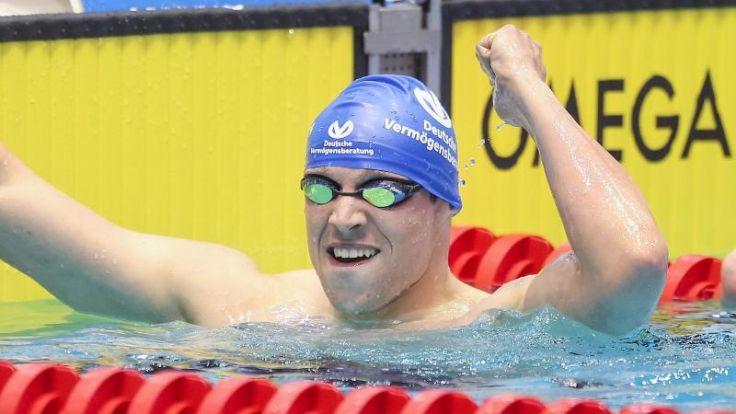 Biedermann «froh» - Brandt schwimmt Rekord (Foto)