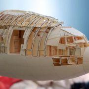 5000 Bastelstunden für eine Boeing 777 aus Papier und Kleber (Foto)