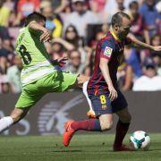 Barca nur 2:2 gegen Getafe - Kaum noch Titelchancen (Foto)