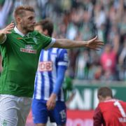 2:0 über Hertha: Bremens Hunt mit perfektem Abschied (Foto)