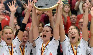 Volleyballerinnen des Dresdner SC im Freudentaumel (Foto)
