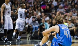 NBA-Playoffs: Nowitzkis Mavericks scheitern an Spurs (Foto)