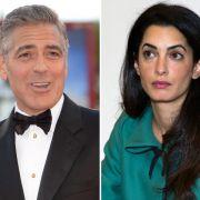 Seit einem Jahr ein Paar und inzwischen verlobt: George Clooney und Amal Alamuddin.