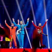 Die isländische Band Pollapönk wirbt in ihrem Song «No Prejudice» für mehr Toleranz gegenüber Stotterern. Zuschauern und Jury hat das gefallen. Auch sie stehen im Finale.
