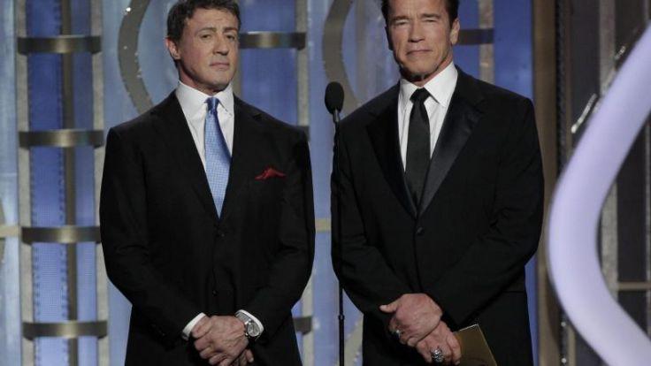 «Expendables 3»-Stars Stallone und Schwarzenegger in Cannes (Foto)