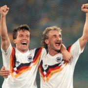 Das ist richtig lange her: Loddar und Rudi, Weltmeister 1990.