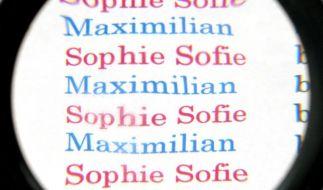 Die beliebtesten Vornamen:Maximilian und Sophie (Foto)