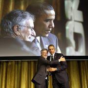 Steven Spielberg ehrt Barack Obama (Foto)