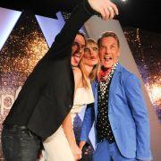 Posing bis zum Äußersten: Thomas Hayo (links), Heidi Klum und Wolfgang Joop.
