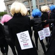 «Kein Foto für Heidi»: Demonstration gegen «GNTM» (Foto)