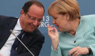 Merkel trifft Hollande in ihrem Wahlkreis (Foto)