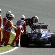 Rückschlag für Vettel: Abbruch mit Feuerlöscher (Foto)