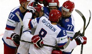 Eishockey-WM: Siege für Russland und USA (Foto)