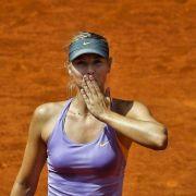 Scharapowa im Tennis-Finale von Madrid gegen Halep (Foto)
