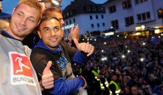 Zwanzigtausend Fans feiern Aufsteiger SC Paderborn (Foto)