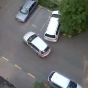 Das Nachbarauto musste bei diesem Einparkmanöver ganz schön leiden.