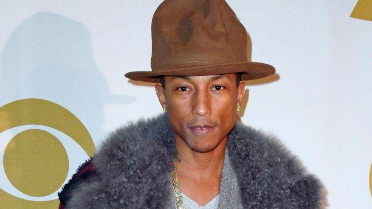 Pharrell Williams trägt «Spongebob»-Socken aus Kaschmir (Foto)