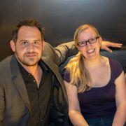 News.de-Redakteurin Susett Queisert traf Moritz Bleibtreu (links) und Jürgen Vogel (rechts) zum exklusiven Interview bei der Premiere in Leipzig.