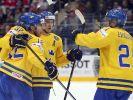 Schweden mit drittem Sieg bei WM - Letten helfen DEB (Foto)