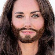 Einen hübschen Menschen entstellt nichts, oder? Auch Herzogin Kate würde ein Conchita-Bart stehen.