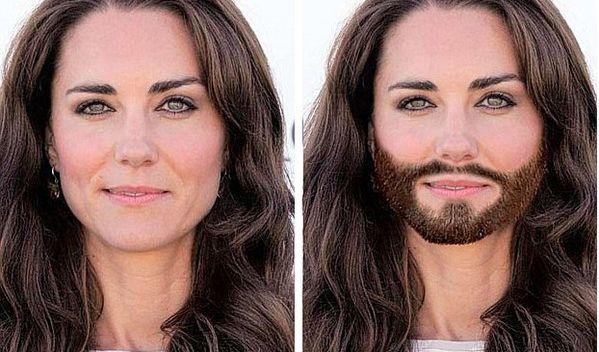 Einen hübschen Menschen entstellt nichts, oder? Auch Herzogin Kate würde ein Conchita-Bart stehen. (Foto)